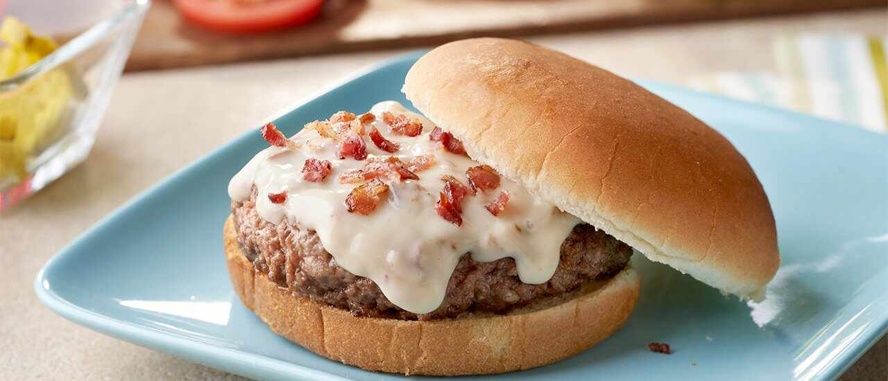 Deluxe Cheese-Stuffed Burgers