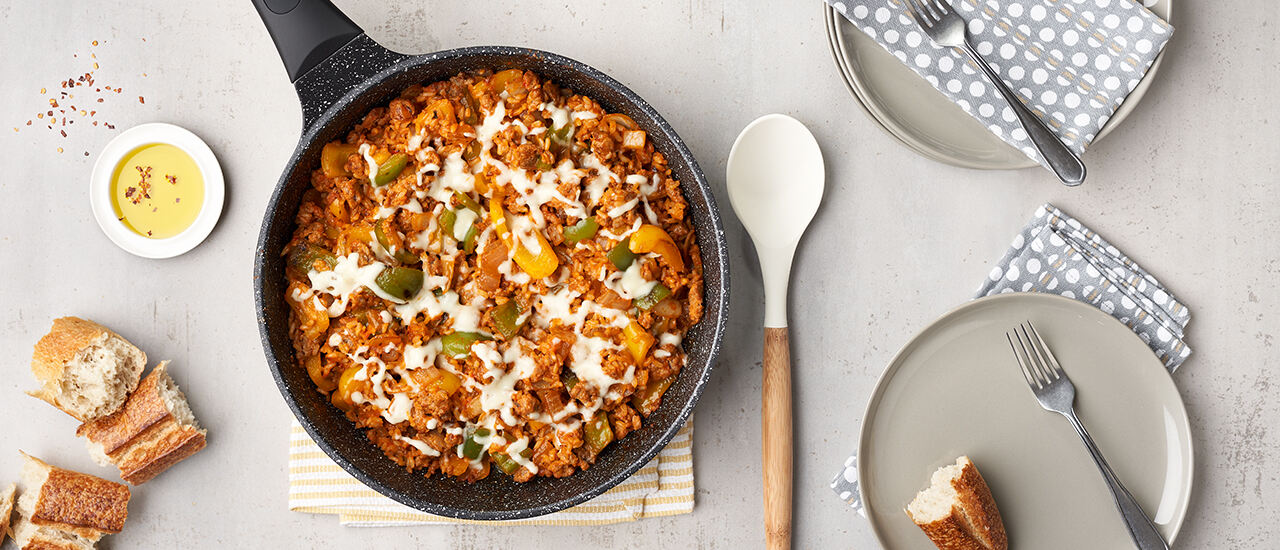 Unstuffed Pepper Skillet