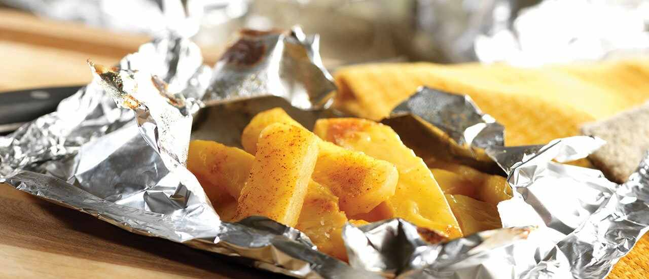 Cheddary Pouch Potatoes