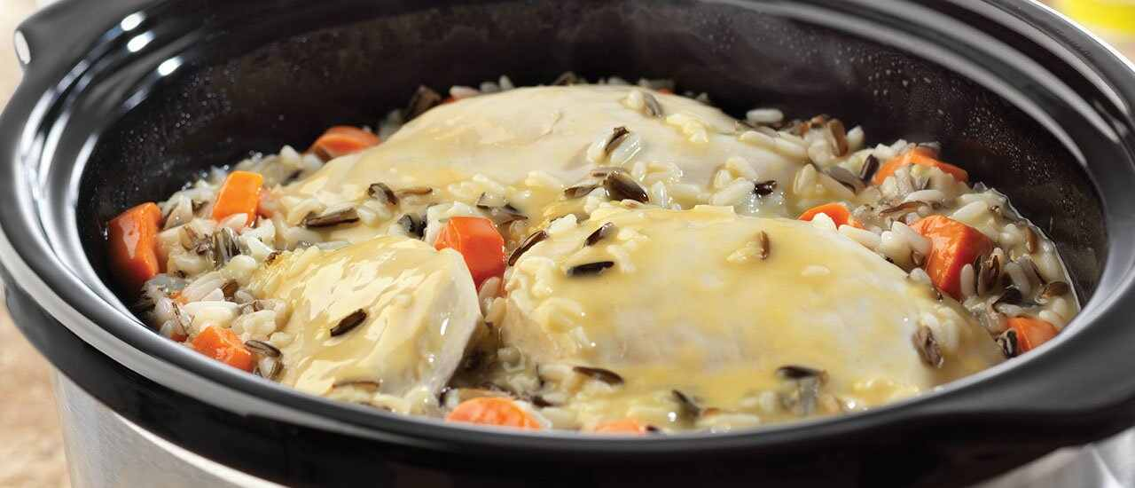 Slow Cooked Creamy Chicken & Wild Rice