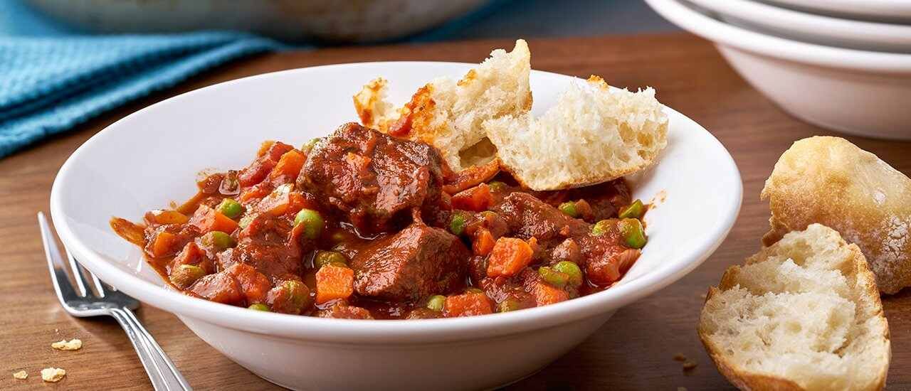 Tomato Beef Stew with Red Wine