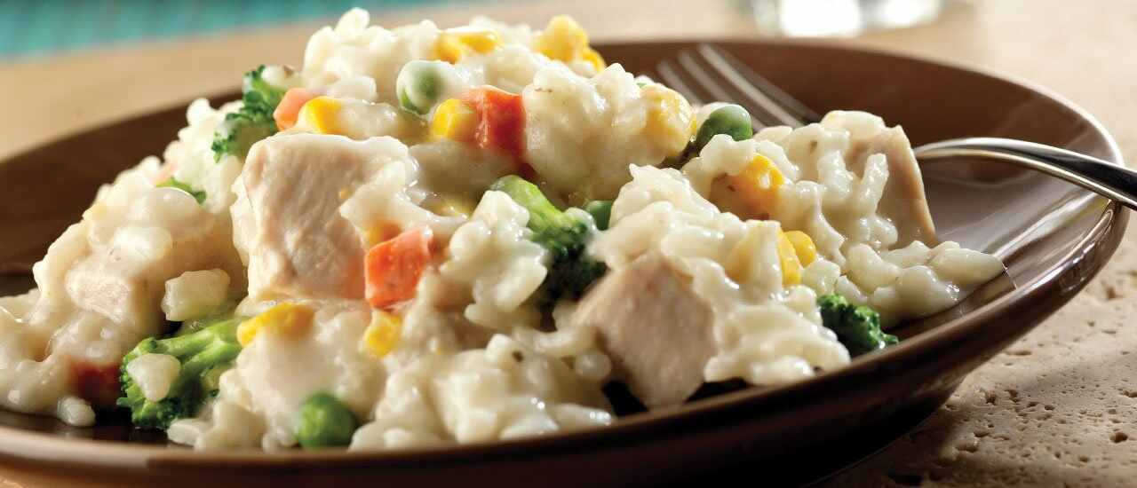 Baked Chicken & Cheese Risotto