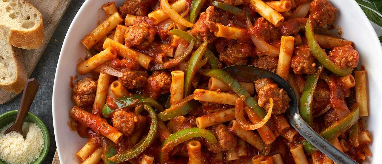 Italian Sausage & Peppers with Penne