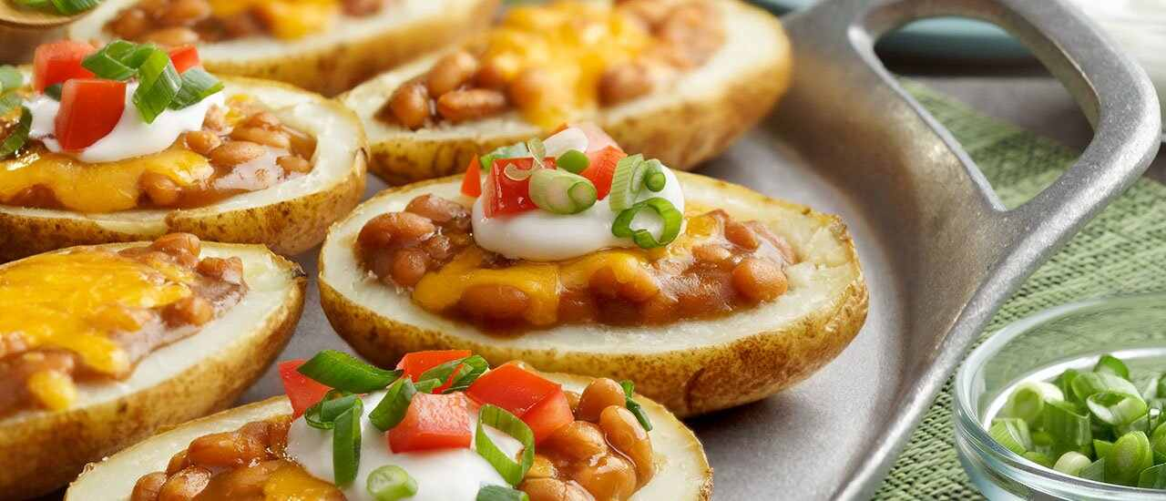 Bean & Cheese Potato Skins