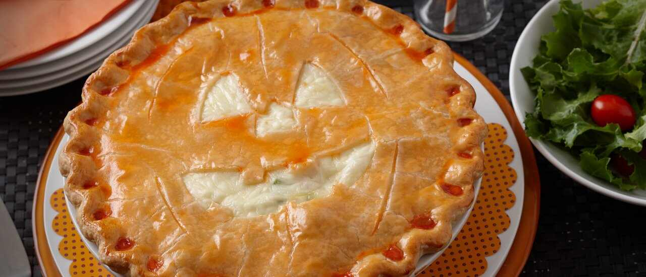 Halloween Jack O'Lantern Pot Pie